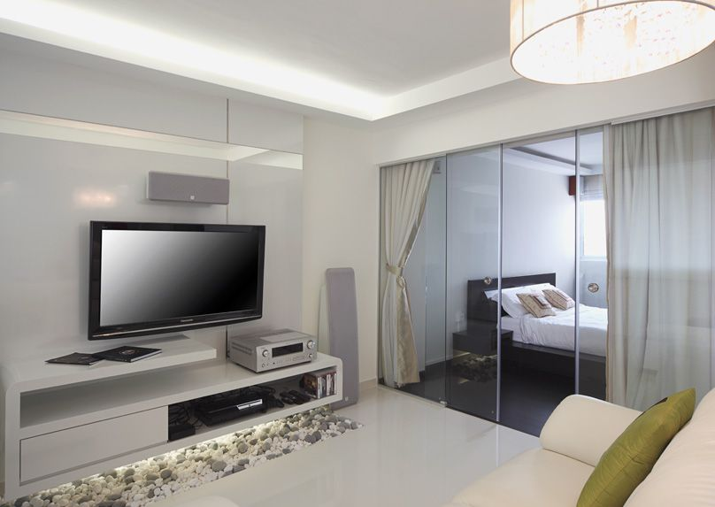 Captivating HDB 3 Room Flat With A Minimalistic White Design And Clever Space Planning.  Design
