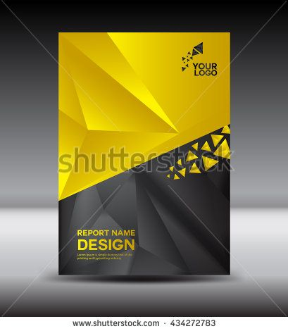 Yellow And Black Cover Design Annual Report Vector Illustration, Booklet,  Poster, Cover Template  Annual Report Cover Template