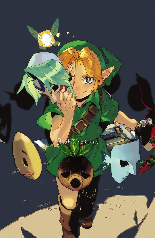 The Legend Of Zelda Majora S Mask Young Link And Tatl Masks