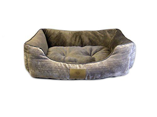 American Kennel Club Mason Cuddler Solid Pet Bed Brown Check