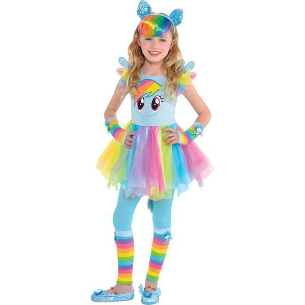 Girls Rainbow Dash Costume Deluxe - My Little Pony  sc 1 st  Pinterest & Girls Rainbow Dash Costume Deluxe - My Little Pony | cool toddler ...