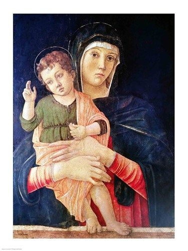 The Virgin and Child Blessing Art Print by Giovanni Bellini