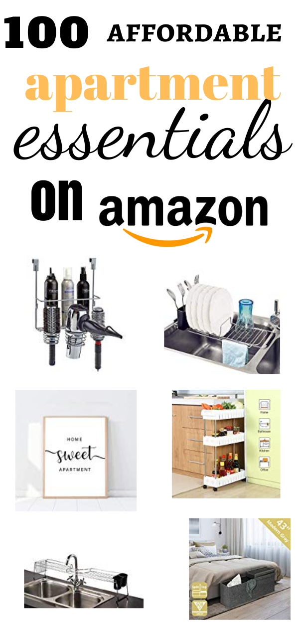 Check out this amazing list of must have apartment essentials on amazon! All budget friendly cheap storage solutions for your apartment. The best amazon finds and decor for a better and more organized home. #amazon #amazonfinds #musthaves #amazonorganization #apartment #apartmentorganization