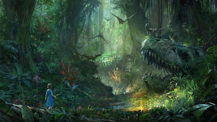 Ark Park Vr Dinosaurs Skull Forest Art Wallpaper Ark Survival Evolved Tips Forest Art