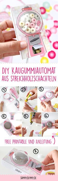 diy f r kinder kaugummiautomat aus streichholzschachteln basteln pinterest basteln. Black Bedroom Furniture Sets. Home Design Ideas