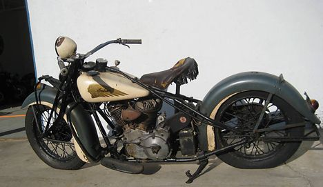 Photo Of 1937 Vintage Indian Chief Motorcycle Absolutely