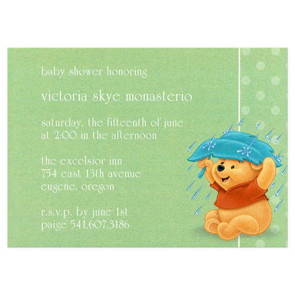 Winnie the Pooh shower invitation option #1 | Winnie the Pooh Baby ...