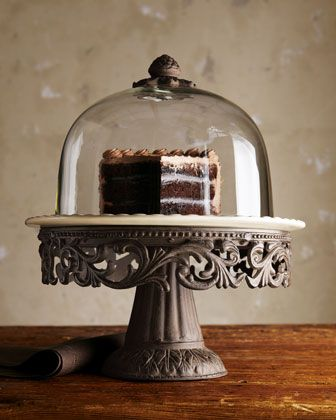 Cake+Dome+&+Pedestal+by+GG+Collection+at+Horchow.
