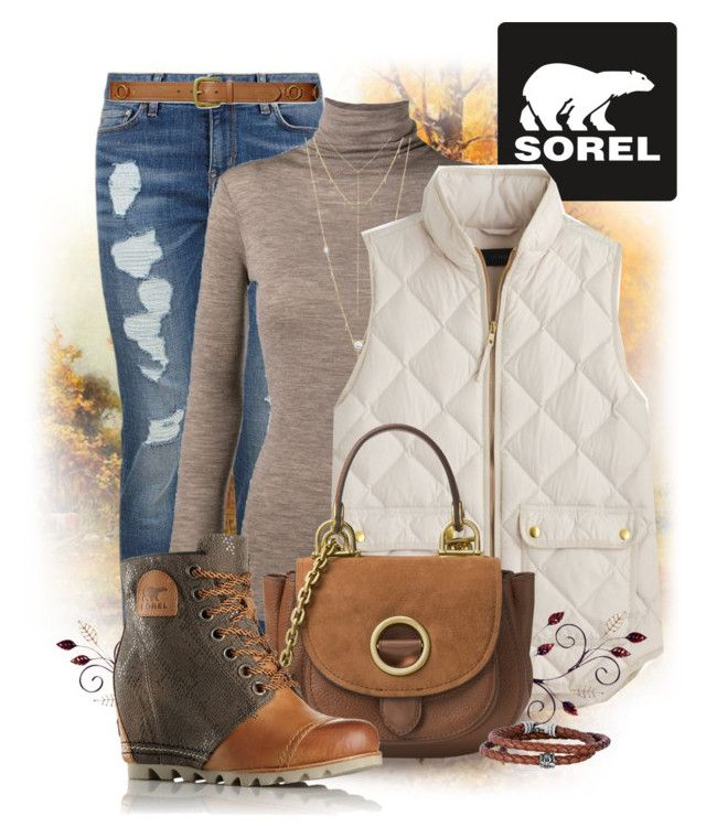 """""""Kick Up the Leaves (Stylishly) With SOREL: CONTEST ENTRY"""" by kat620 ❤ liked on Polyvore featuring Tommy Hilfiger, Vince, House of Harlow 1960, SOREL, J.Crew, MICHAEL Michael Kors, Lauren Ralph Lauren, Phillip Gavriel and sorelstyle"""