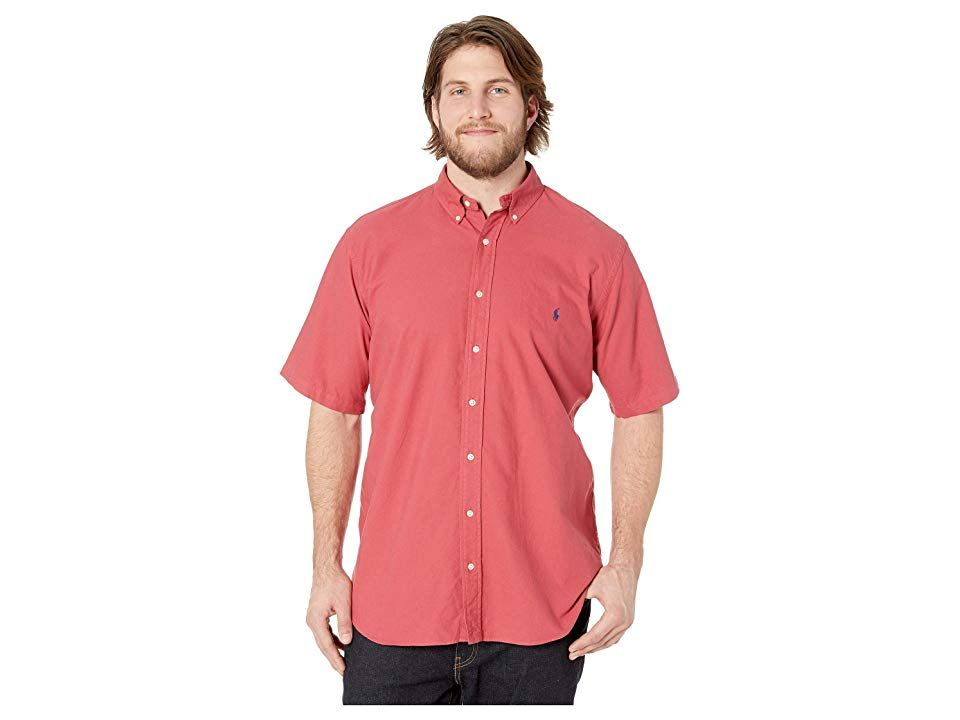 87114032 Polo Ralph Lauren Big Tall Solid Garment Dyed Oxford Short Sleeve Classic  Fit Sports Shirt (