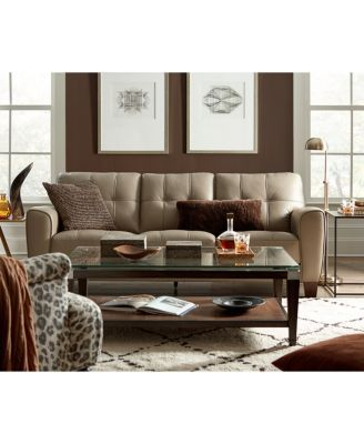 Furniture Kaleb 15  Tufted leather sofa, Leather sofa, Leather
