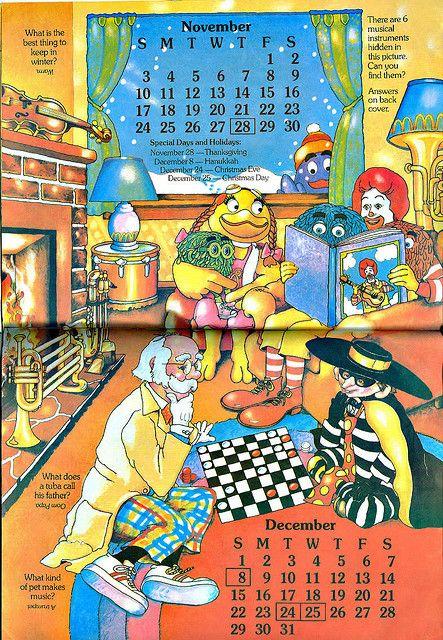 Mcdonaldland 1985 Calendar Fun Cover Comic Book Cover
