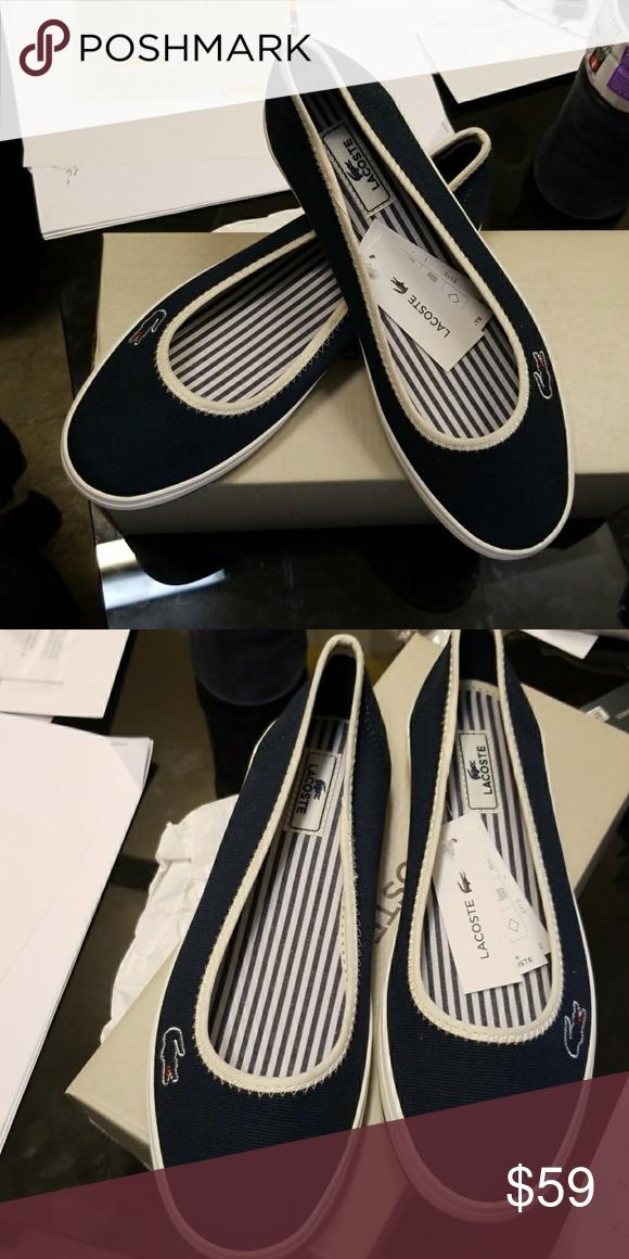 97b2b4e26 Lacoste women marthe 4 shoe navy color Lacoste women authentic slip on shoe  Lacoste Shoes Flats   Loafers