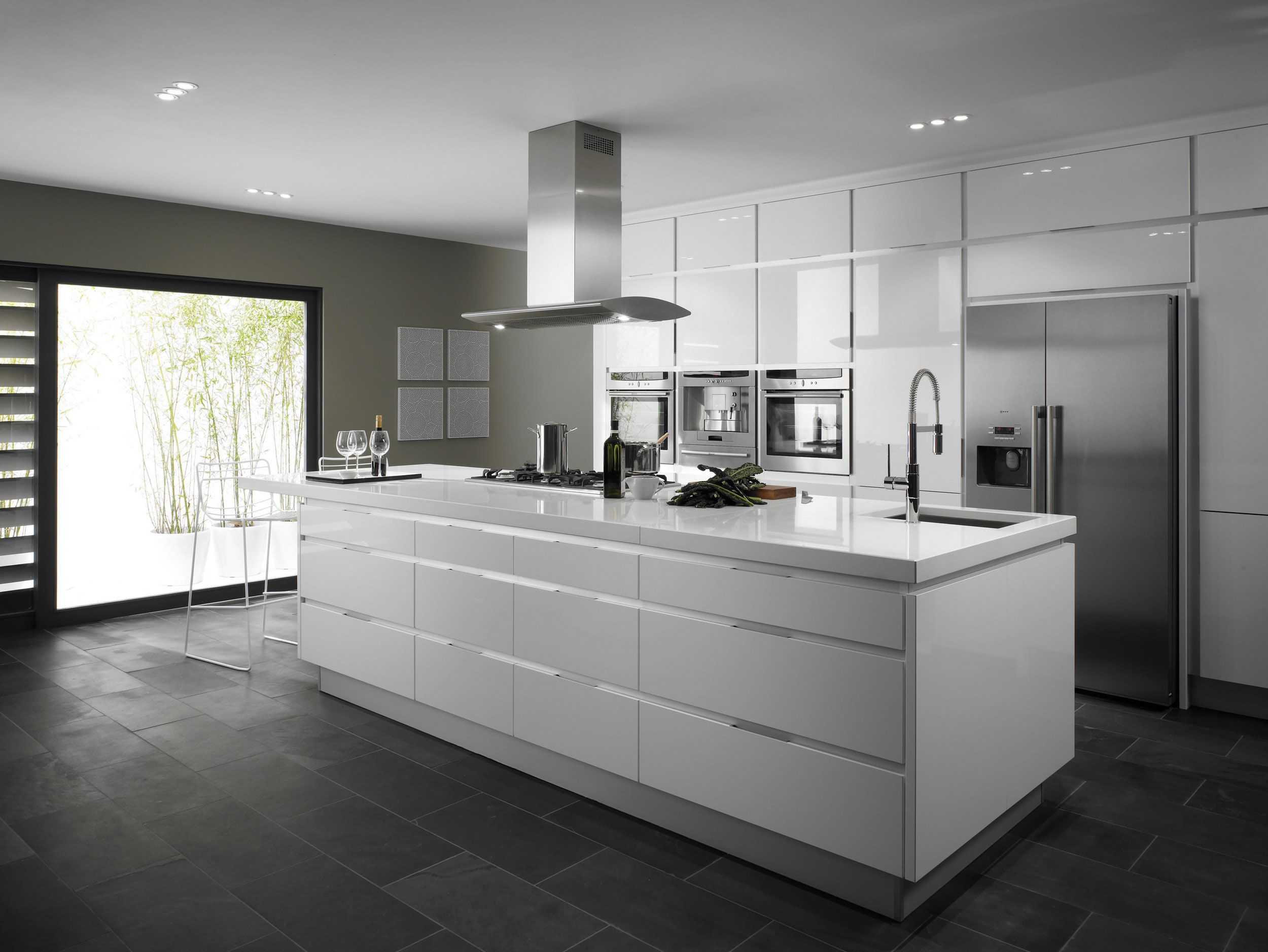 Design Inspiration Freestanding Kitchen Islands: Kitchen Decoration Fashionable Chrome Free Standing Range