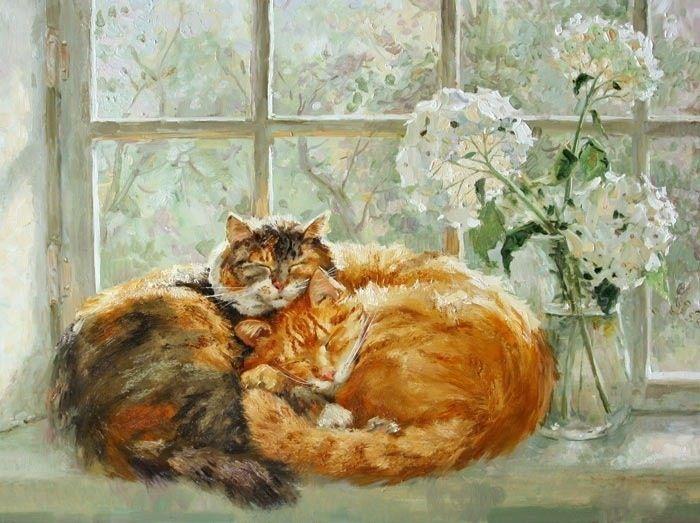 Maria Pavlova Art Katzen Kunst Aquarell Katze Und Katzen