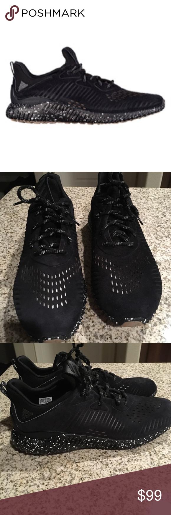 Adidas AlphaBounce lea negro zapatilla zapatos Pinterest
