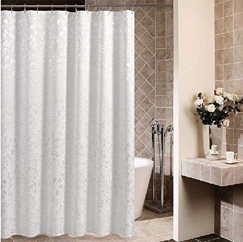 Delicieux Eforcurtain Extra Long 72x 78 Home Fashion Fabric Shower Curtain Waterproof  And Mildew Free Bath Curtains