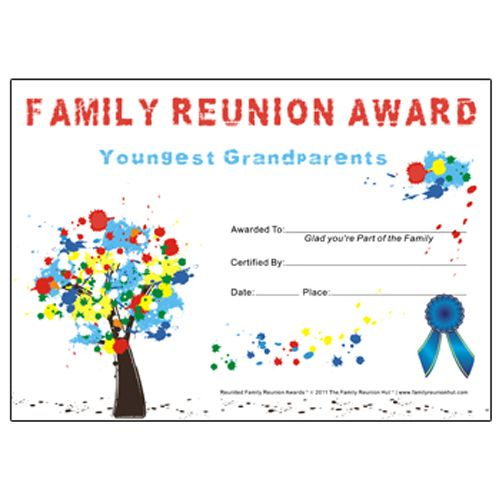 Most Recently Married Award Down South Theme Free Family Reunion