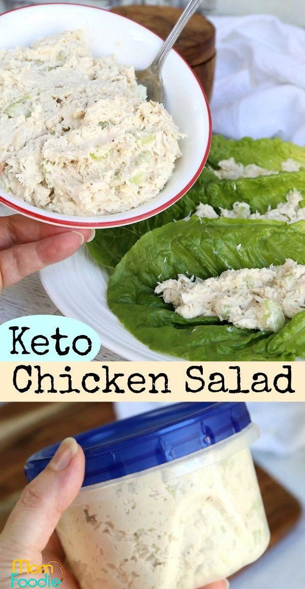 This easy keto chicken salad tastes like Willow Tree but without the carbs! #Healthyeating