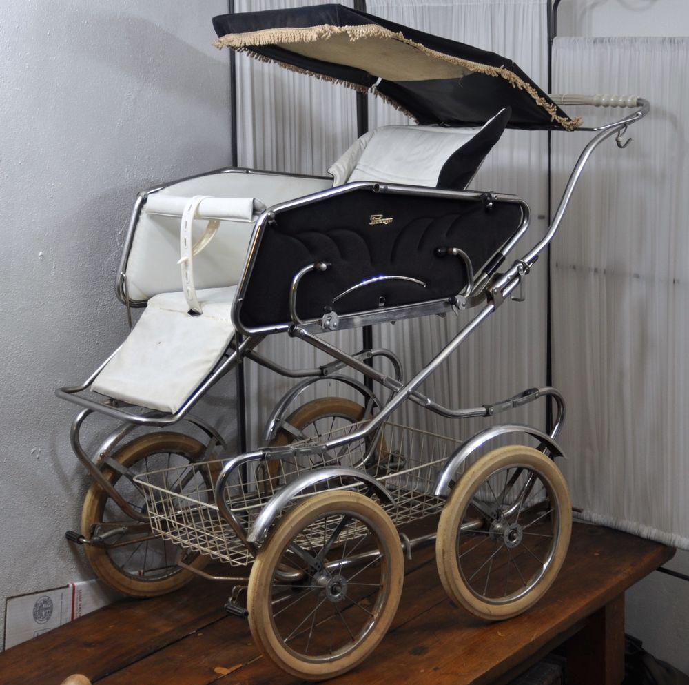 Vintage 1970s Italian Peg Perego Pram Baby Carriage