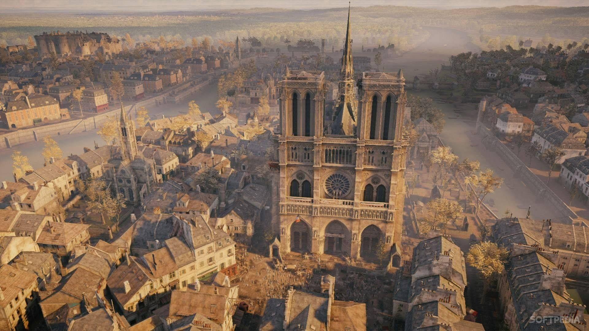 """Une vue du """"Vieux Paris"""" imaginée par les concepteurs du jeu """"Assassin's Creed®"""""""