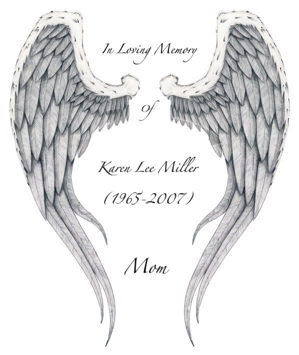 Memorial Tattoo Heart With Wings And Quote: Angel's Wings-In Loving Memory Of Our Daughter Candice Ann