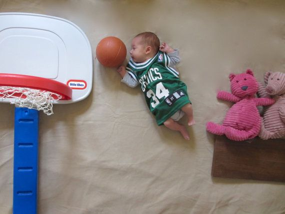 awesome baby photo, basketball