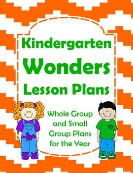 Kindergarten Wonders Lesson Plans For The Year  Kindergarten