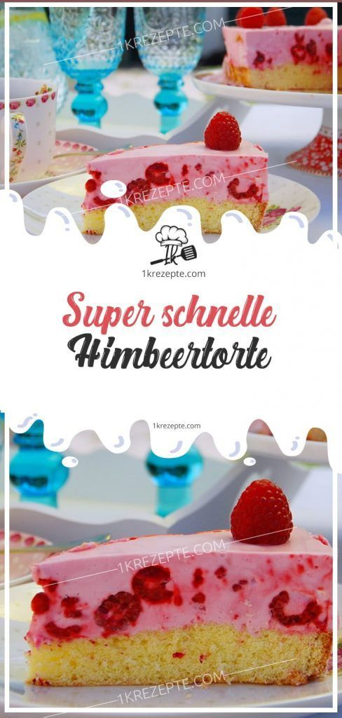 Photo of Super schnelle Himbeertorte
