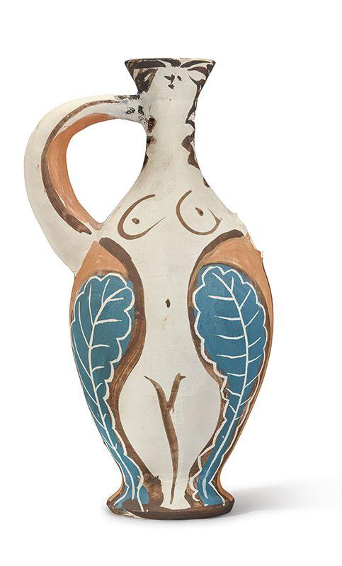 Pablo Picasso Vase Femme Avec Un Bras Anse Painted And Incised