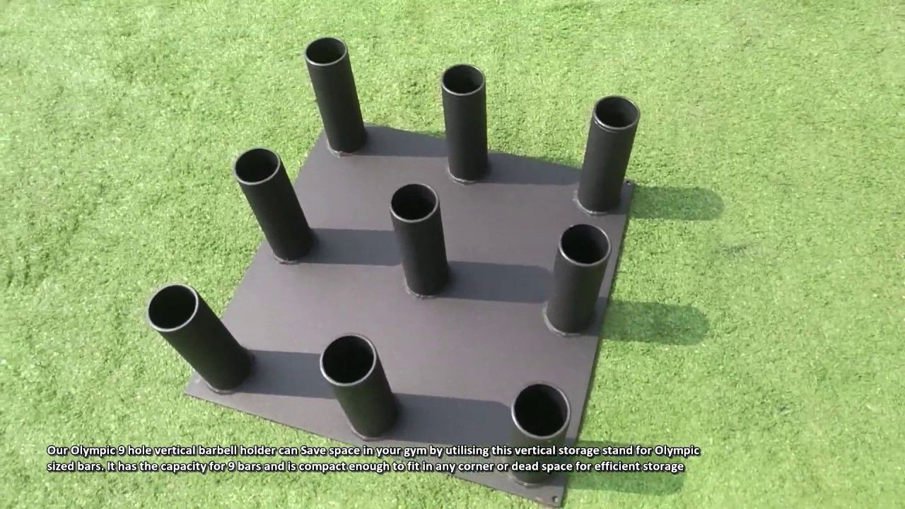Olympic 9 hole vertical barbell holder