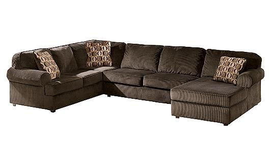 Vista Chocolate Sectional Furniture Home Furniture Leather