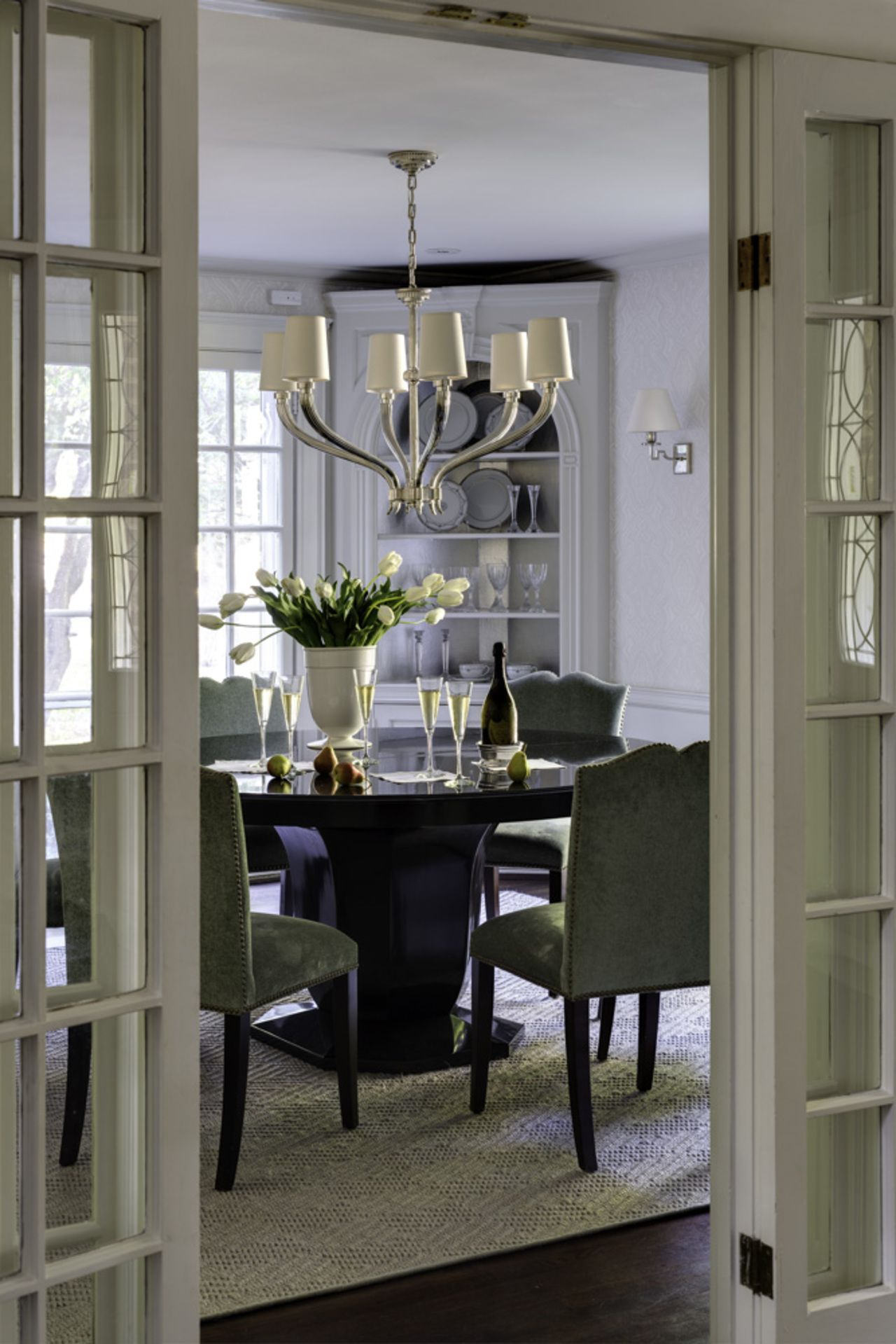 Dining room light fixtures  BHDM Design | Ruhlmann Six Light Chandelier |  Holiday decor | shop now: http:
