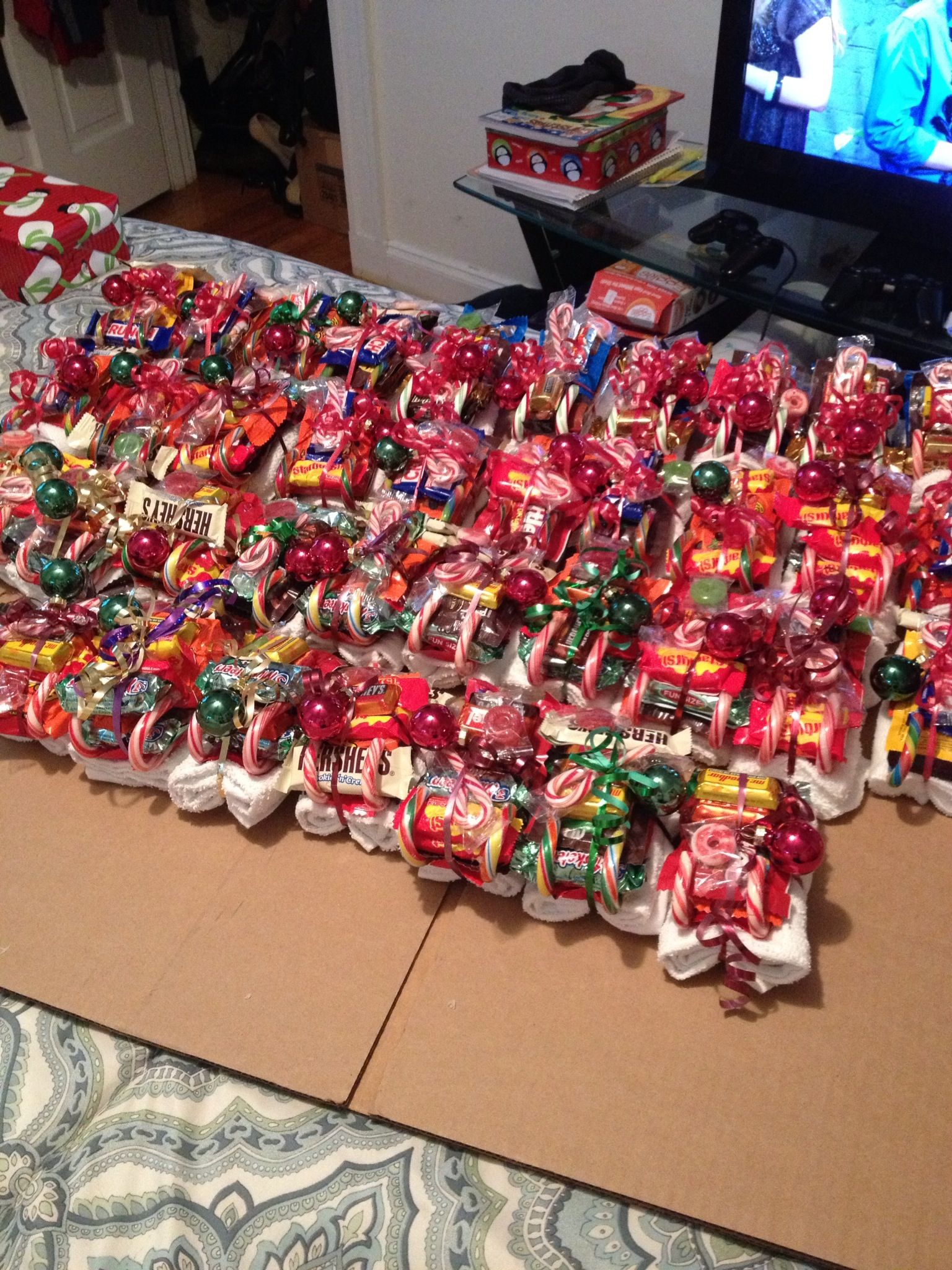 christmas candy sleighs made for danny and the rest of his platoon used a white - Christmas Candy Sleigh