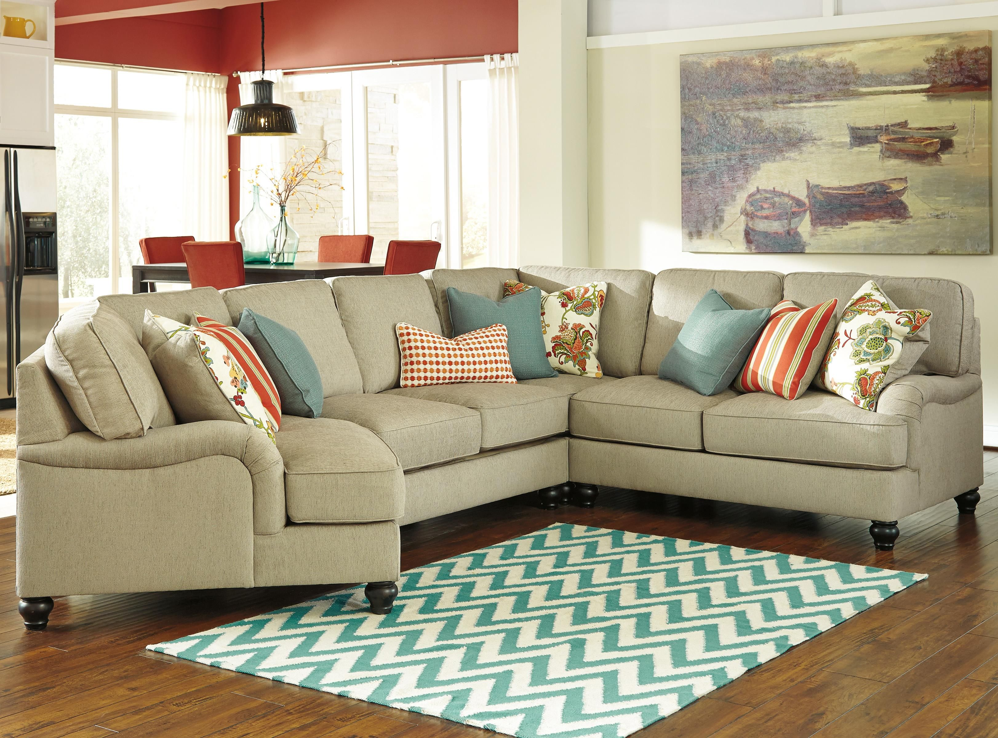 Kerridon 4 Piece Sectional with Left Cuddler by Benchcraft