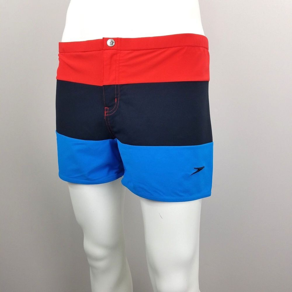 Vtg 90s Speedo Briefs Color Block Swim Trunks Square Shorts Mens Xl Speedo Swimbriefs Mens Fashion Summer Outfits