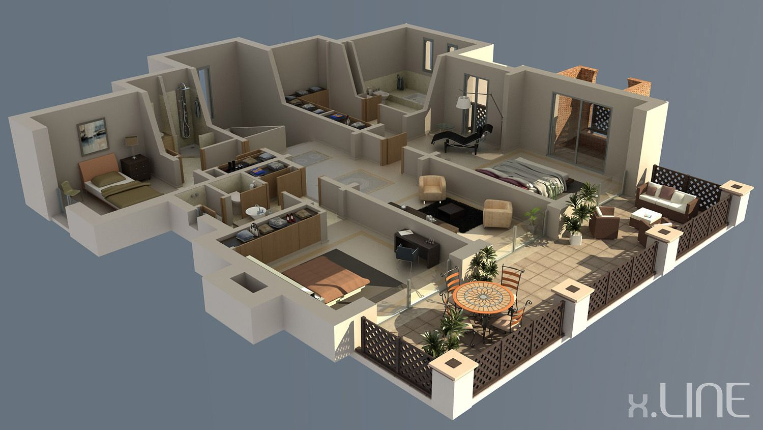 Pin by maria lynch on 3d house plans floor plans pinterest Architecture design house plans 3d