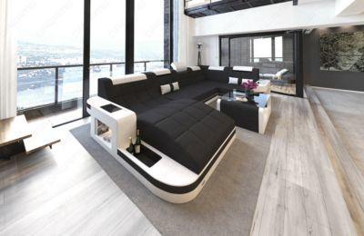 Sofa Dreams Stoff Wohnlandschaft Wave U Form Mit Led Jetzt Bestellen