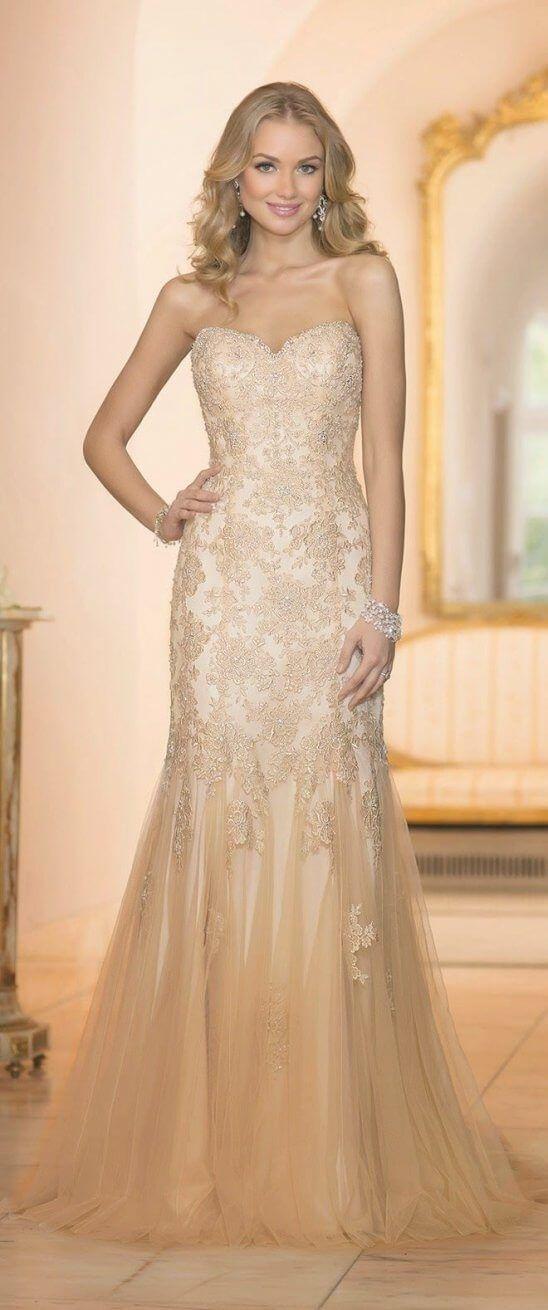 Best 30 White Wedding Dress Gold Embroidery   White wedding dresses ...