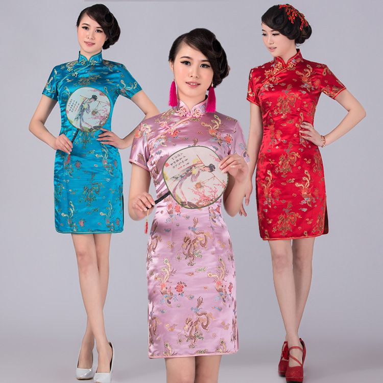Hot Sale!Retro modern Sexy Chinese Tang Suit Qipao Costumes Dragon ...