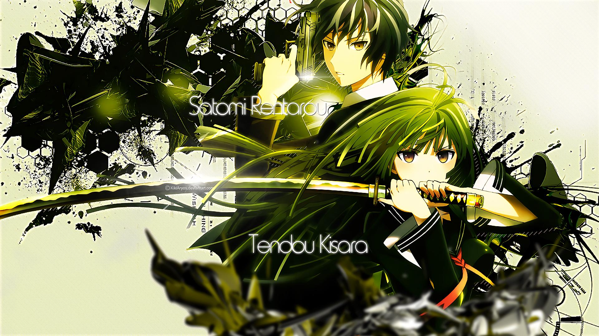 Anime Black Bullet Kisara Tendo Rentaro Satomi Wallpaper