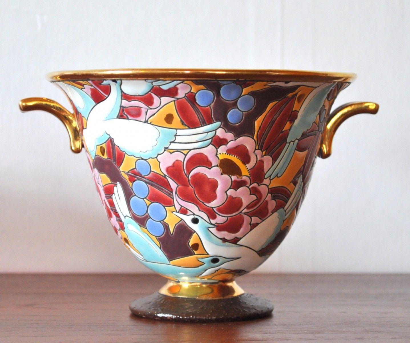 Art Deco Porcelain Vase from Boch