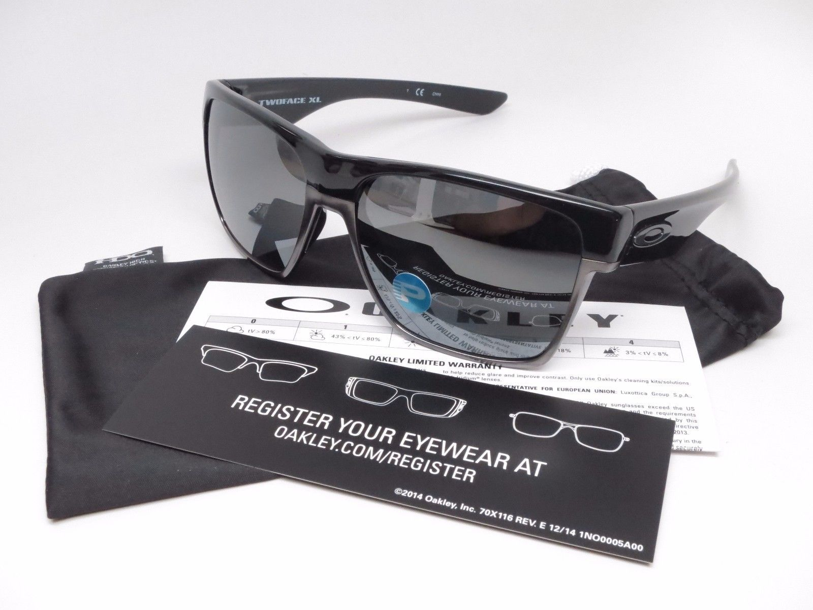 3d1ec6d5e30ed Oakley Two Face XL OO9350-01 Polished Black w Black Iridium Polarized  Sunglasses