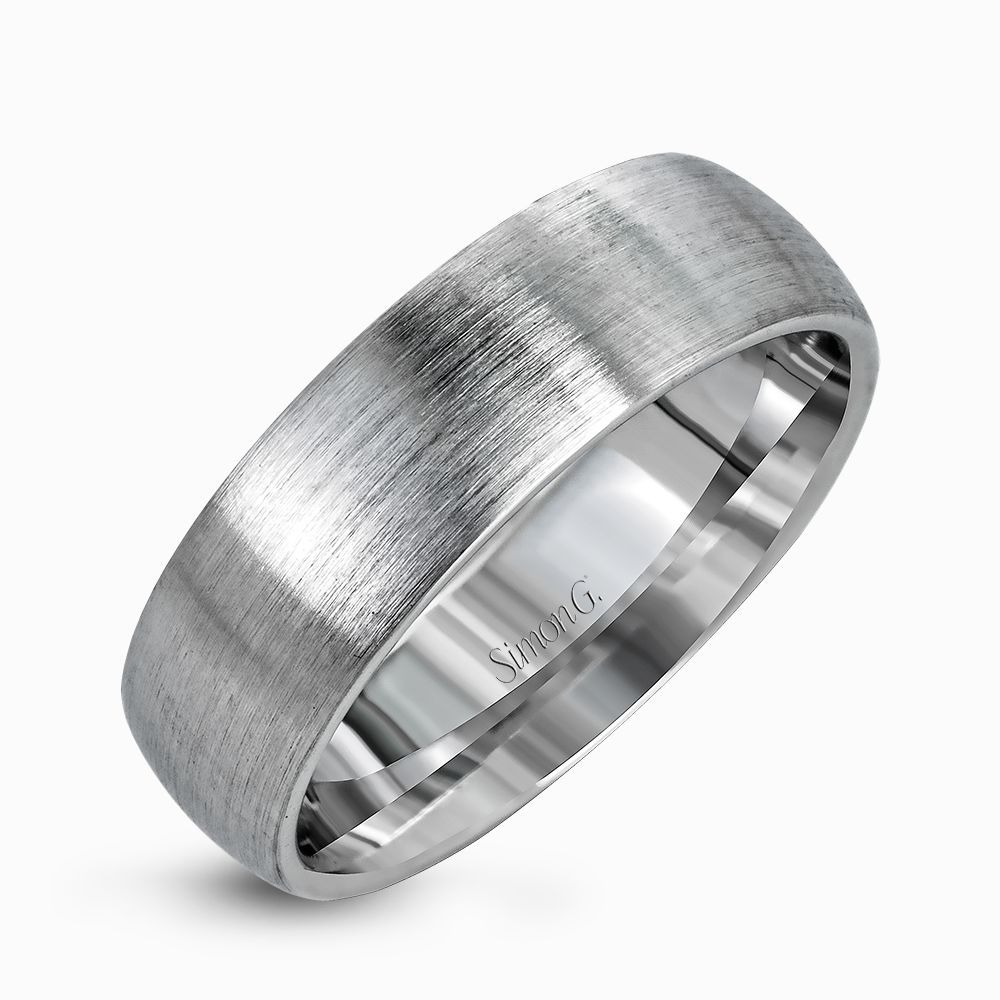 Uncomplicated But Sophisticated This Clic Men S Wedding Band Features A Broad Design In Elegant Brushed Platinum That Will Stand The Test Of Time