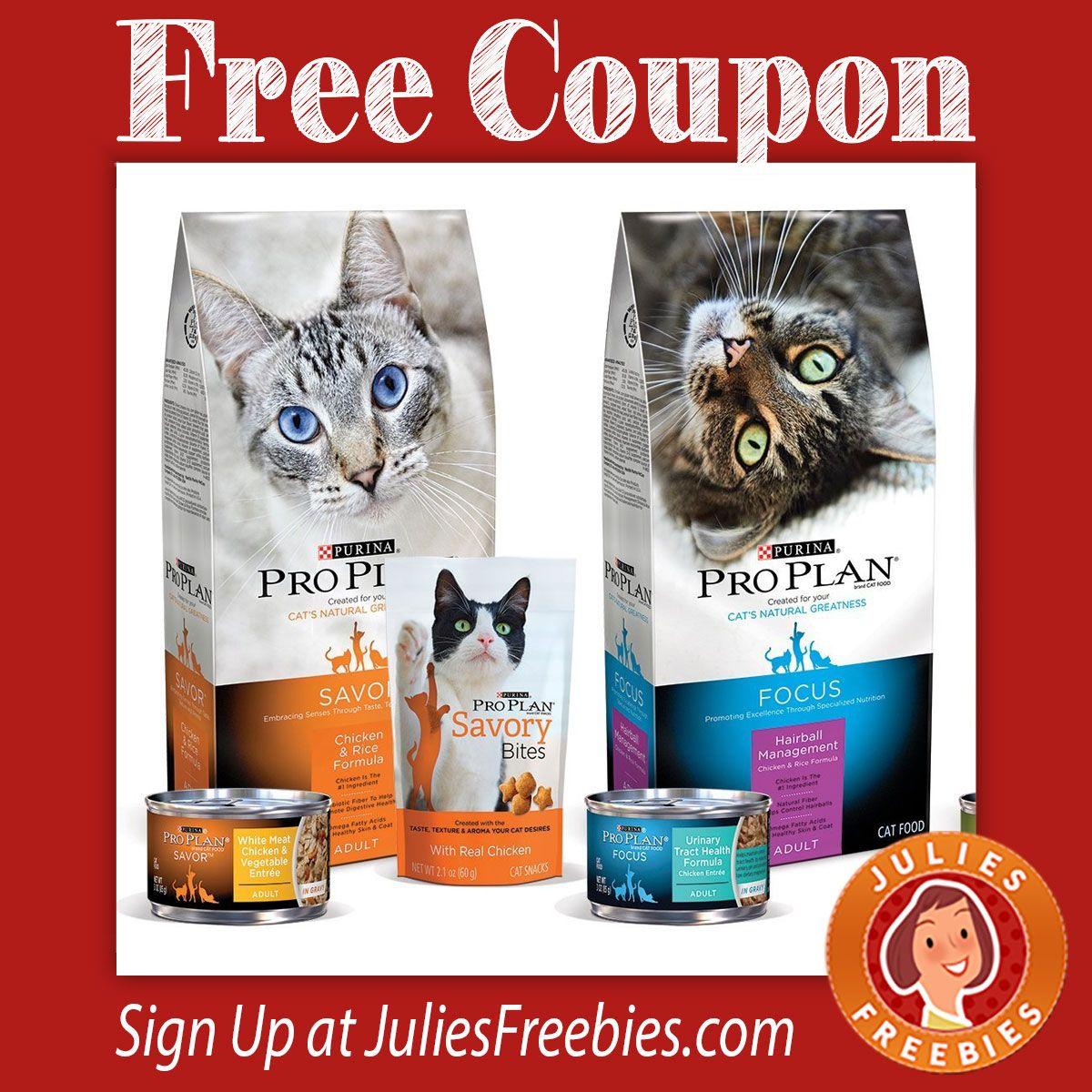 Free 5 Off Purina Pro Plan Cat Food Coupon Julie S Freebies Cat Food Coupons Purina Pro Plan Purina