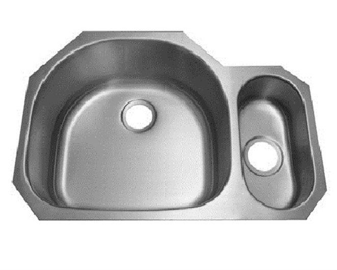 Roosevelt 18 Gauge Undermount Offset Double Bowl Kitchen Sink