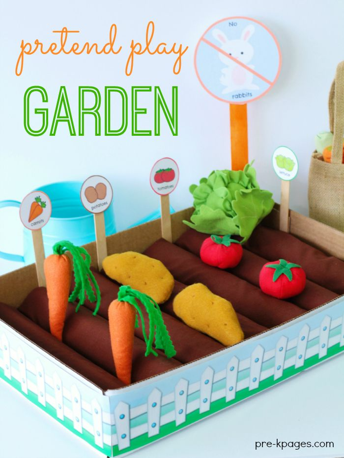 Pretend play garden pretend play vegetable garden and plays for Fun vegetable garden ideas