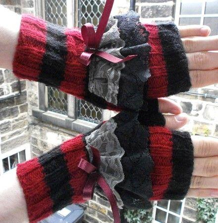 Fingerless gloves - KNITTING