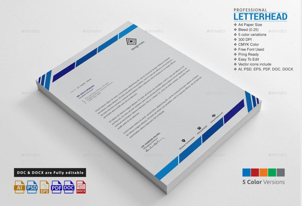 Letterhead Sample Free Business Templates Template Multi Color
