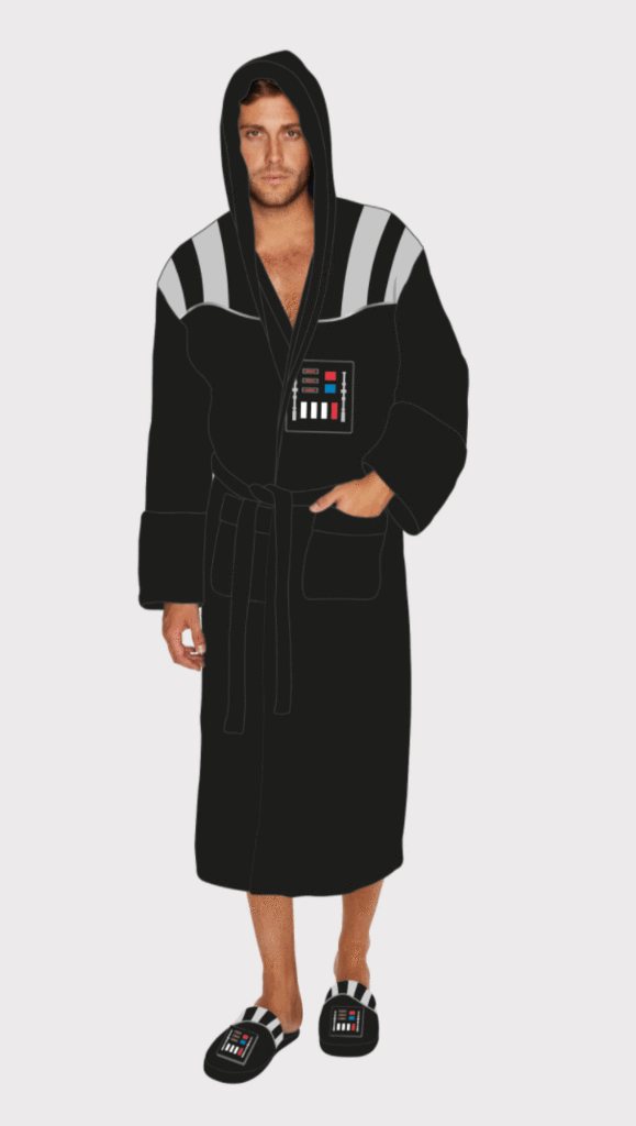 Official Star Wars Darth Vader Fleece Bathrobe/Dressing Gown With ...